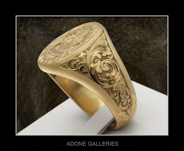 hand engraved rings