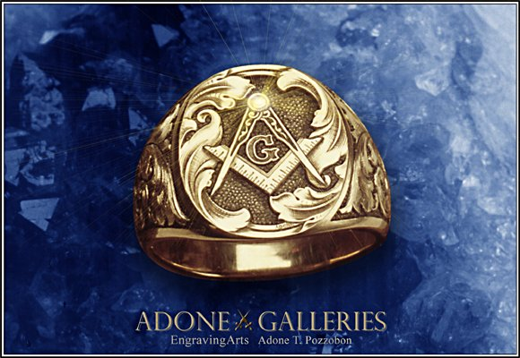 masonic signet ring engraving