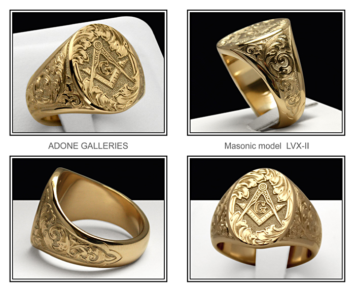 freemason ring model LVX-II