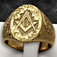 freemasonry gold rings