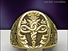 Christian Caduceus signet rings