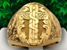 Hermetic Caduceus ring
